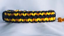 Little hearts collar - Canary Yellow /Goldenrod/ Black
